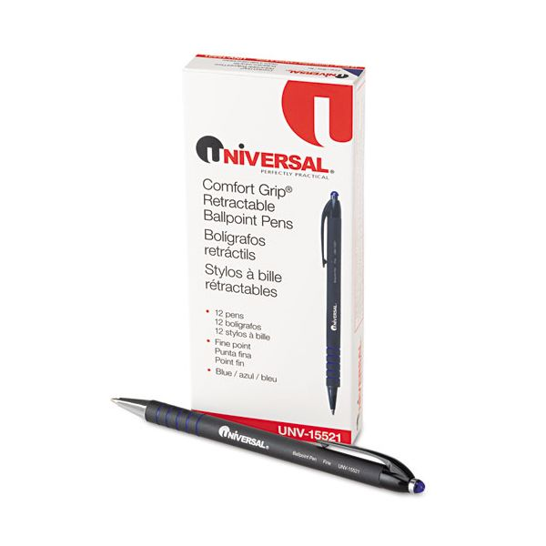 Universal Comfort Grip Retractable Ballpoint Pens