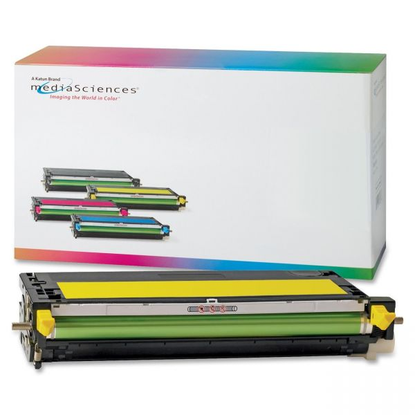 Media Sciences Remanufactured Dell 330-1196 Yellow Toner Cartridge