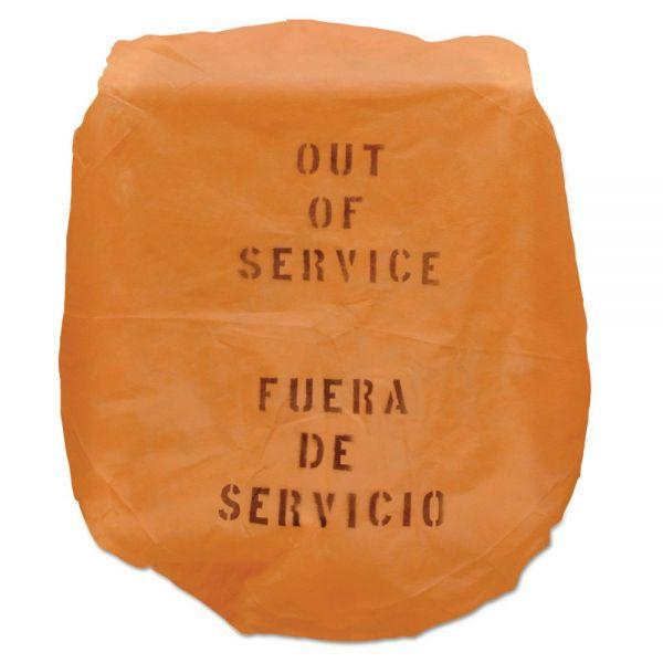 TOLCO Out of Service Bonnet, 17 x 20, Orange, 50/Carton