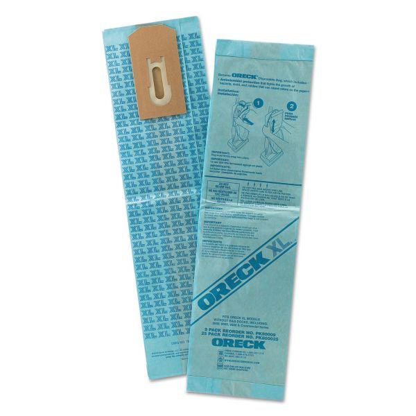 Oreck Commercial Disposable Vacuum Bags, XL Standard Filtration, 9/Pack