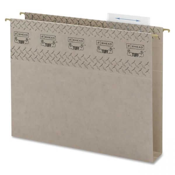 Smead TUFF Hanging Box Bottom File Folders with Easy Slide Tab