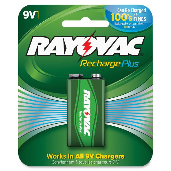 Rayovac Rechargeable Plus 9V Batteries