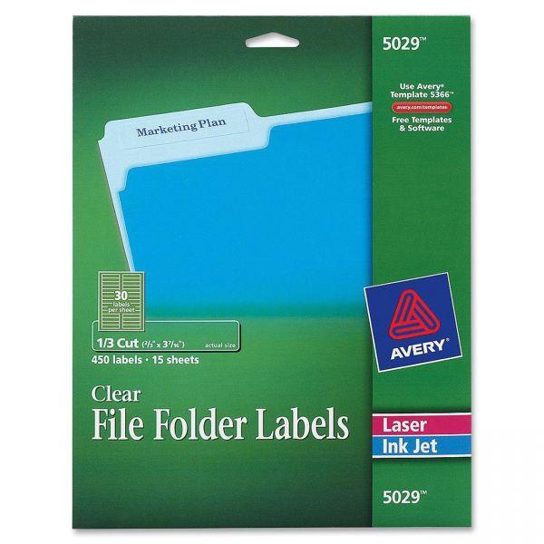 Avery 5029 Permanent File Folder Labels