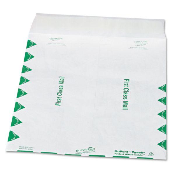 "Quality Park 9 1/2"" x 12 1/2"" First Class Tyvek Envelopes"