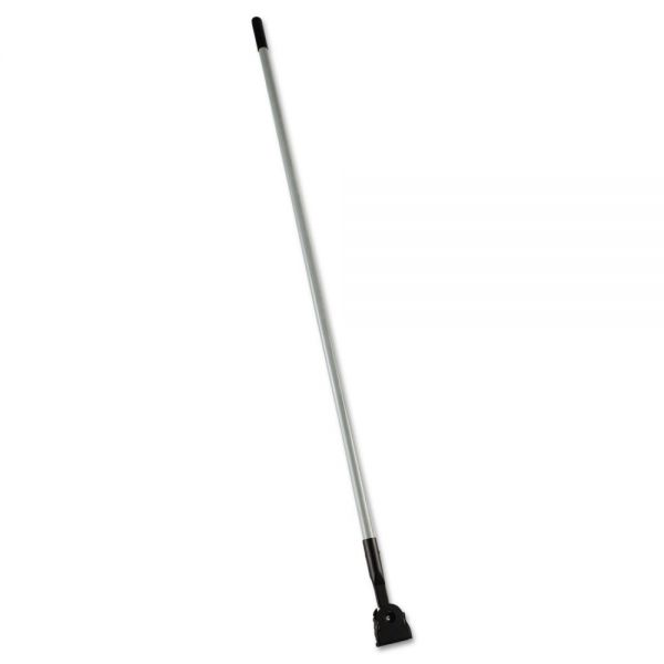 "Rubbermaid Commercial Snap-On Fiberglass Dust Mop Handle, 60"", Gray/Black"