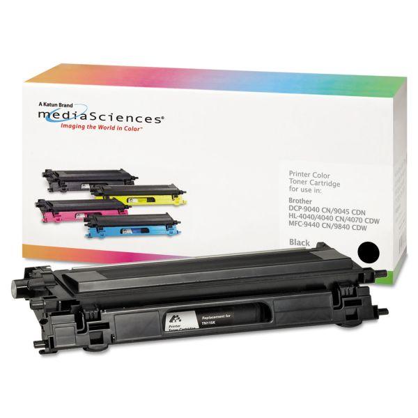 Media Sciences Remanufactured Brother TN115BK Black Toner Cartridge
