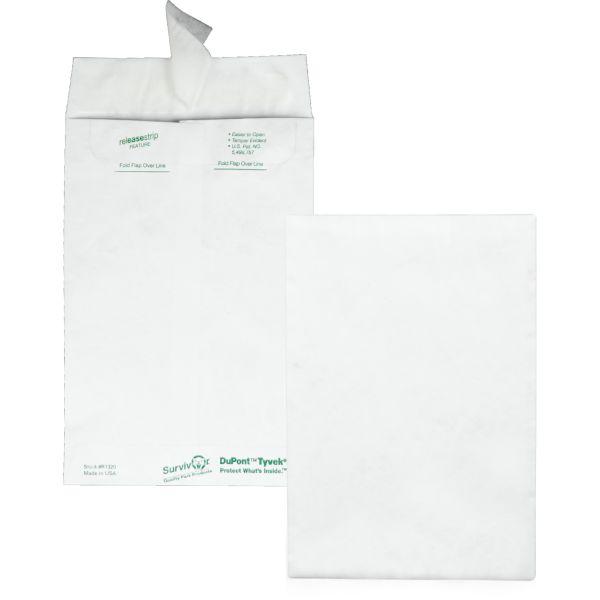 Survivor Tyvek Mailer, #55, 6 x 9, White, 100/Box