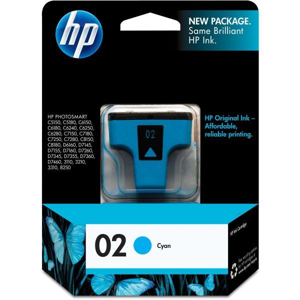 HP 02 Cyan Ink Cartridge (C8771WN)