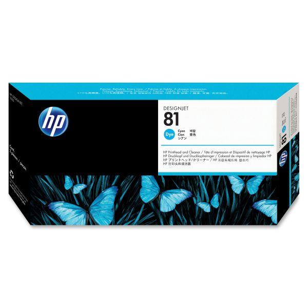 HP 81 Cyan Printhead & Cleaner (C4951A)
