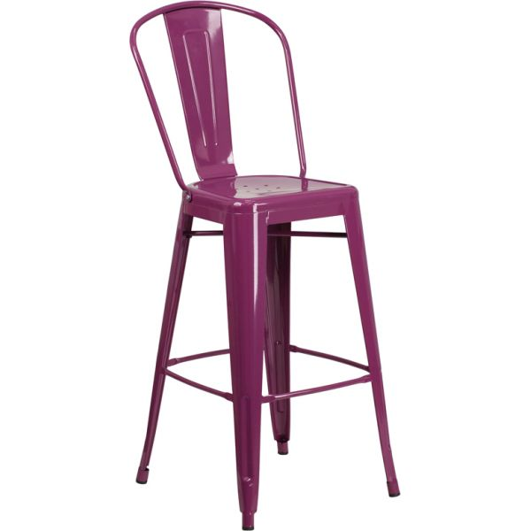 Flash Furniture 30'' High Indoor-Outdoor Barstool with Back