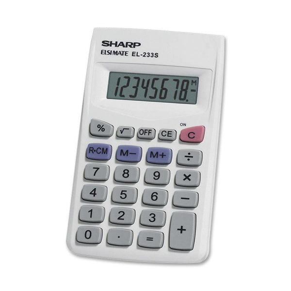 Sharp Calculators Sharp EL233SB 8-Digit Pocket Calculator