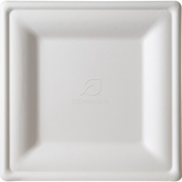 Eco-Products Renewable & Compostable Square Bagasse Plates