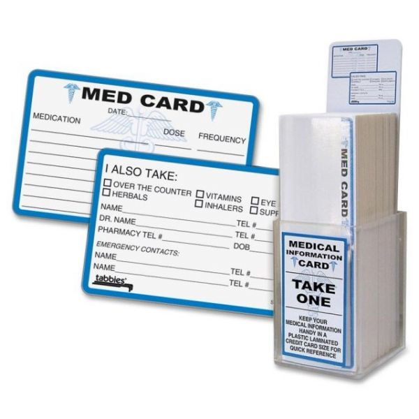 Tabbies Emergency Medical Alert Cards Display