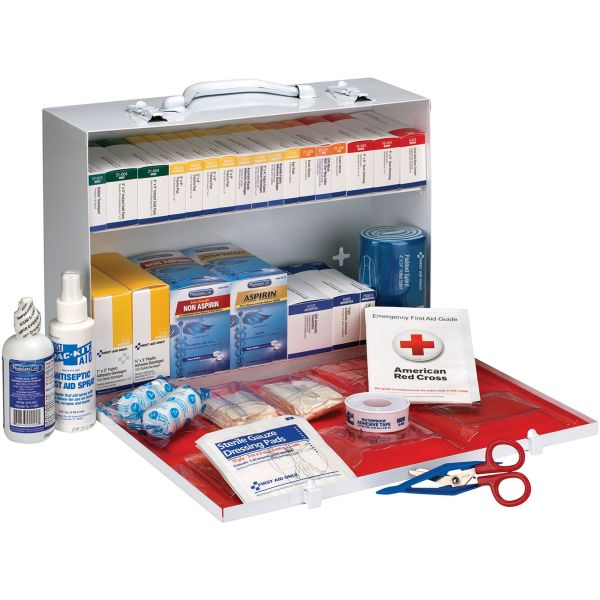 First Aid Only ANSI 2015 Class B+ Type I & II Industrial First Aid Kit/75 People, 446 Pieces