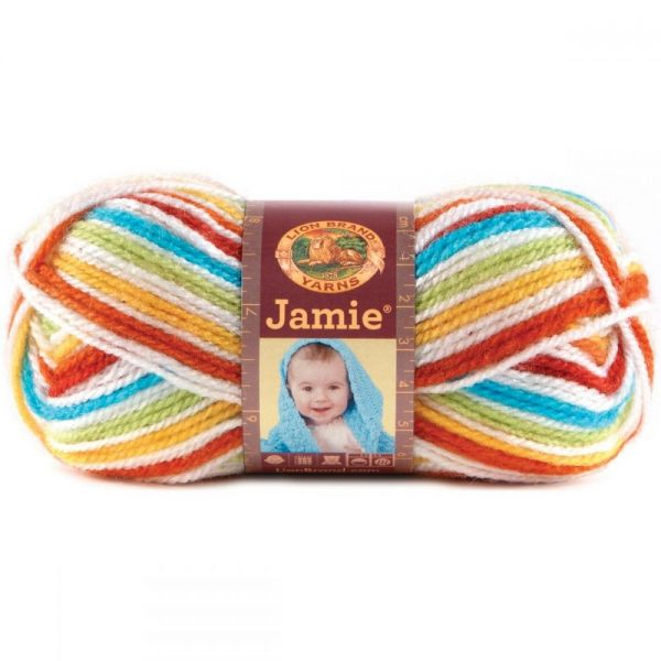 Lion Brand Jamie Yarn - Caribbean Stripes