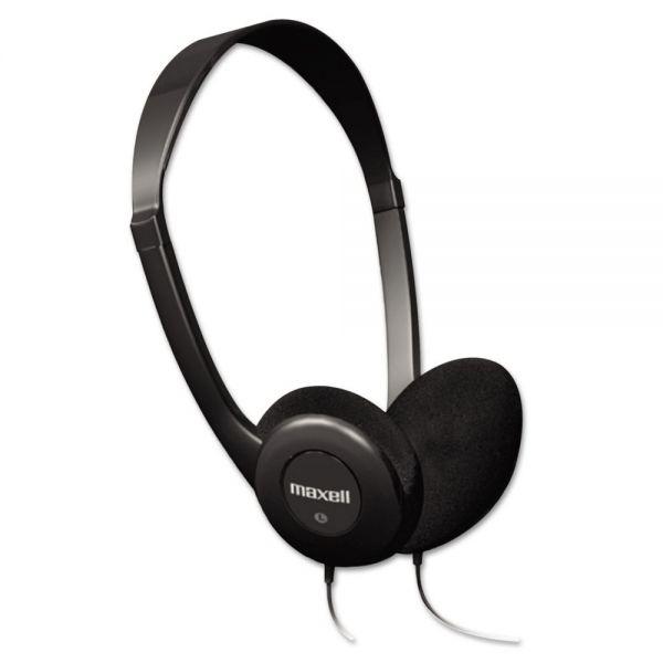 Maxell HP-100 Headphones, Black