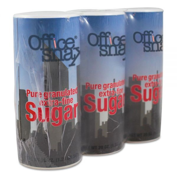 Office Snax Extra-Fine Sugar In Reclosable Canisters