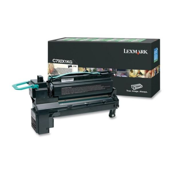 Lexmark C792X1KG Black Extra High Yield Return Program Toner Cartridge