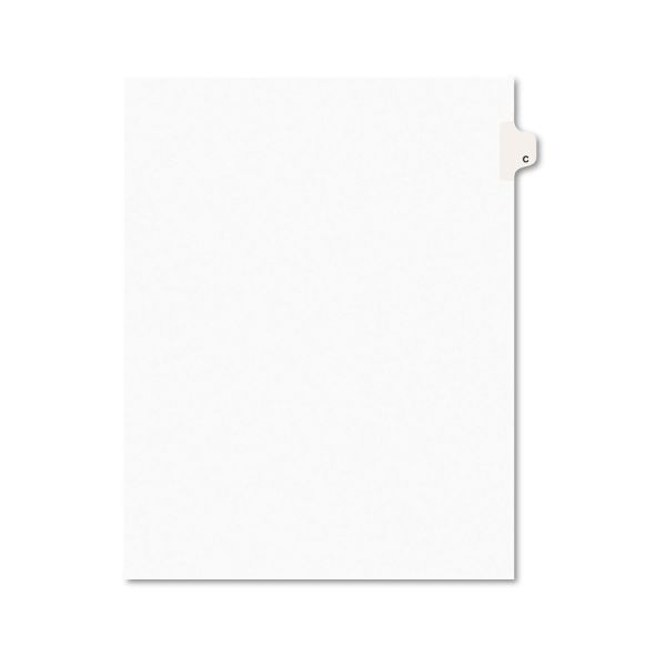 Avery Avery-Style Legal Exhibit Side Tab Dividers, 1-Tab, Title C, Ltr, White, 25/PK