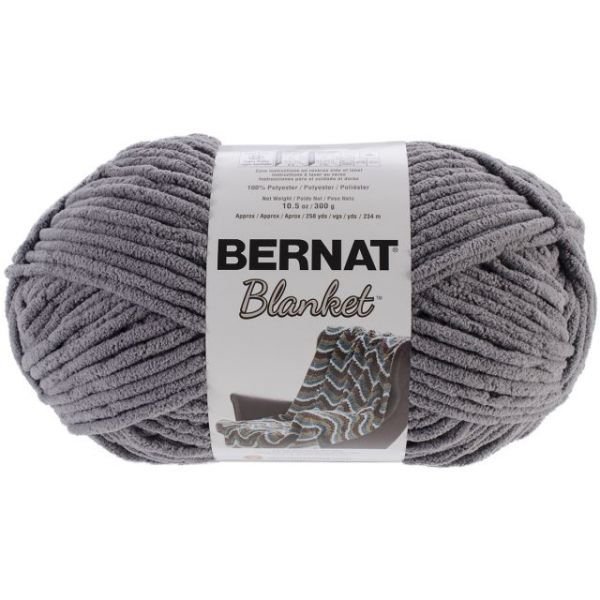 Bernat Blanket Big Ball Yarn - Dark Gray