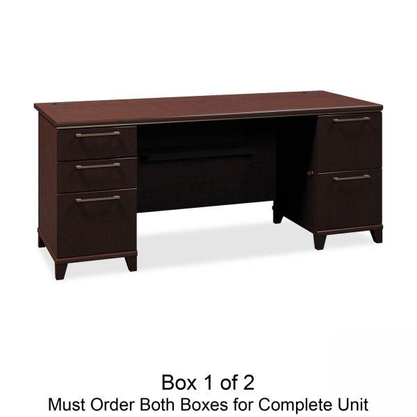 bbf Enterprise Pedestal Computer Desk by Bush Furniture *Box 1 of 2