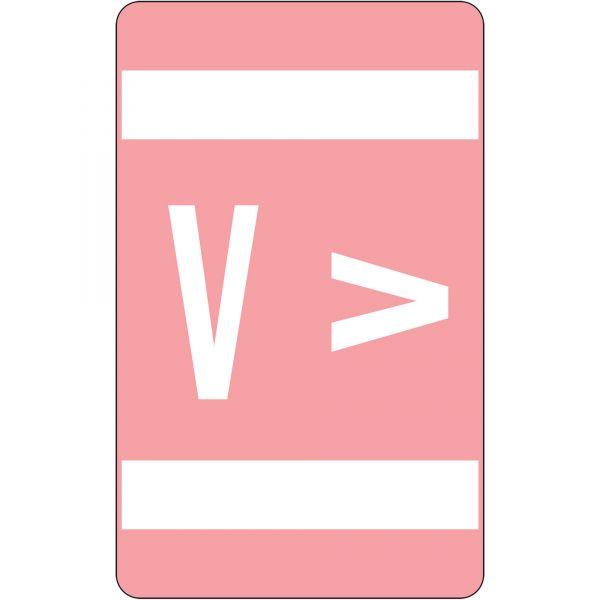 Smead AlphaZ ACCS Color-Coded Alphabetic Label - V