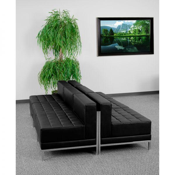 Flash Furniture HERCULES Imagination Series Black Leather Lounge Set, 6 Pieces