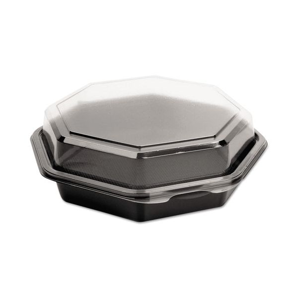 Dart OctaView CF Containers, Black/Clear, 28oz, 7.94w x 7.48d x 3.15h, 100/Carton