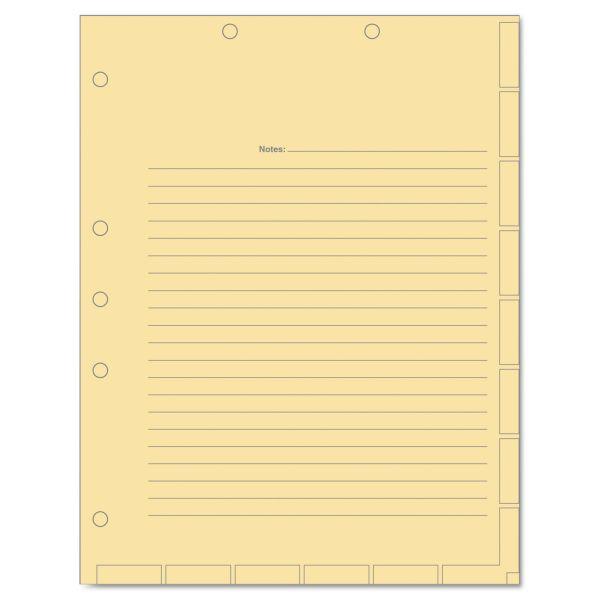 Tabbies Medical Chart Index Divider Sheets, 8-1/2 x 11, Manila, 400/Box
