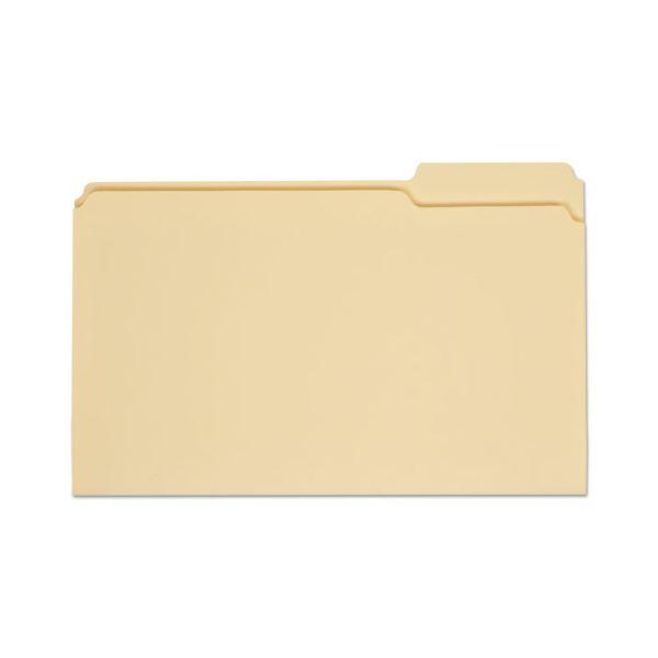 Universal File Folders, 1/3 Cut, One-Ply Top Tab, Third Position, Legal, Manila, 100/Box