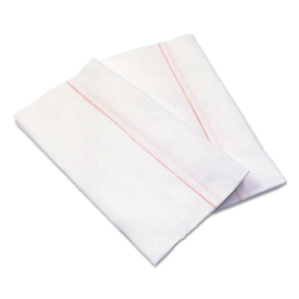Cascades Busboy Durable Foodservice Towels, White/Red Stripe,12 1/4 x 24, 150/Carton