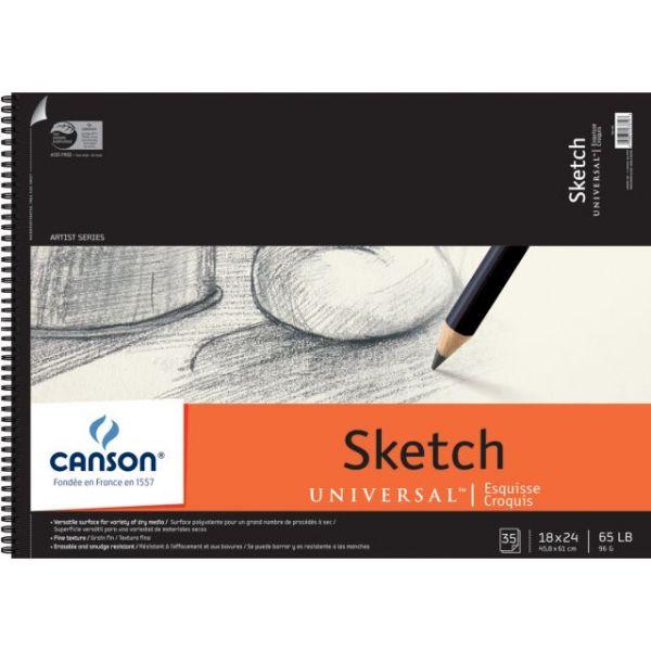 "Canson Universal Spiral Sketch Book 18""X24"""