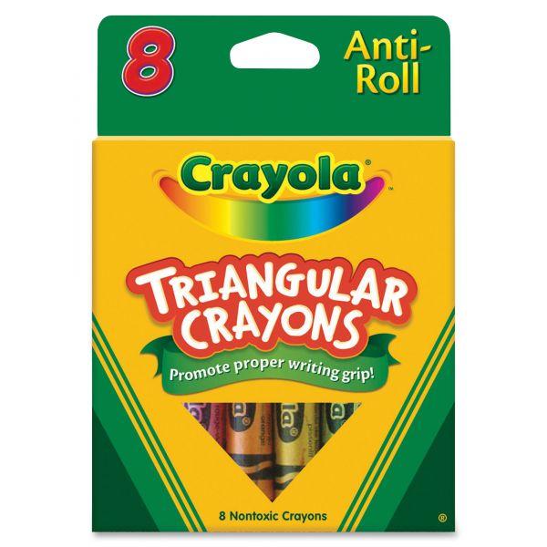 Crayola Triangular Anti-Roll Crayons