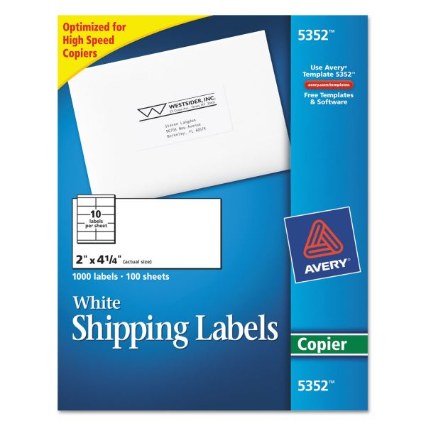 Avery Copier Shipping Labels