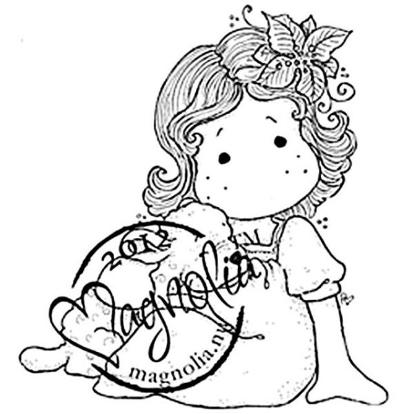 "Little Christmas Cling Stamp 6.5""X4"" Package"