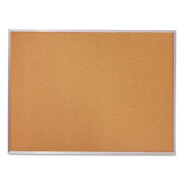 Mead Cork Bulletin Board, 96 x 48, Silver Aluminum Frame