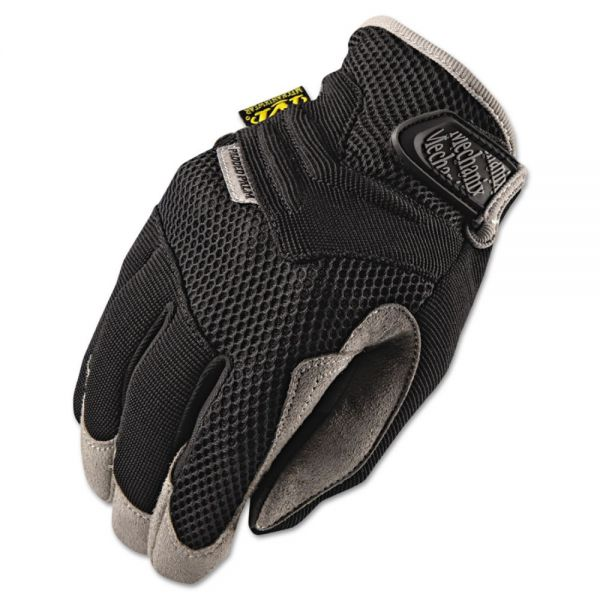 Mechanix Wear Padded Palm Gloves, Black, Medium
