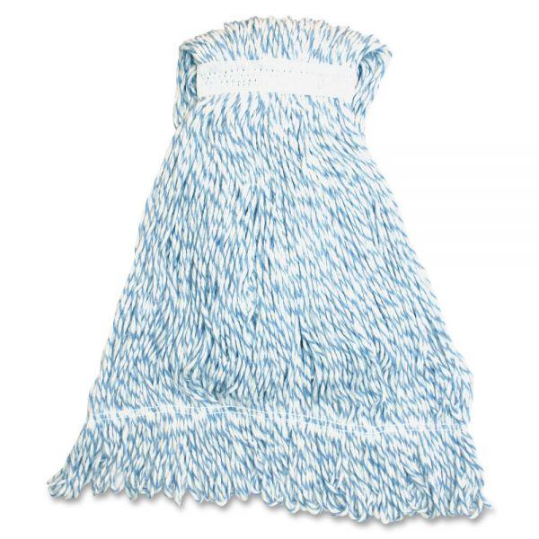 Genuine Joe Blue Stripes Hygrade Rayon Mophead