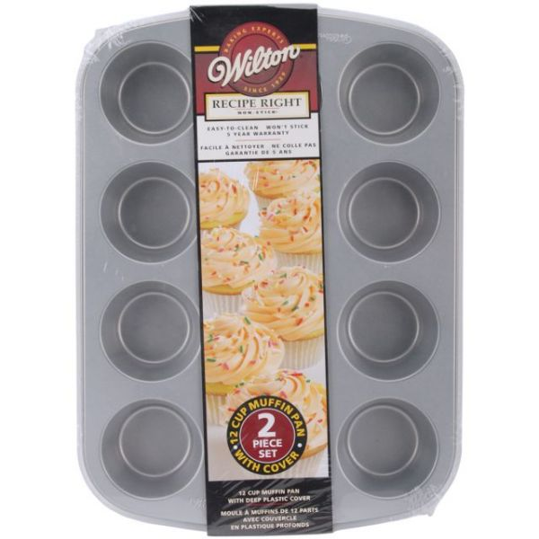 Wilton Recipe Right Non-Stick Muffin Pan With Cover