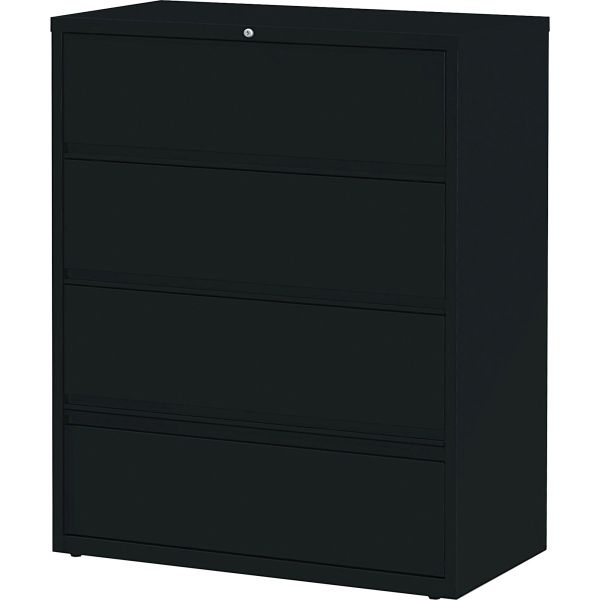 Lorell 4 Drawer Lateral File Cabinet with Roll Out Shelves