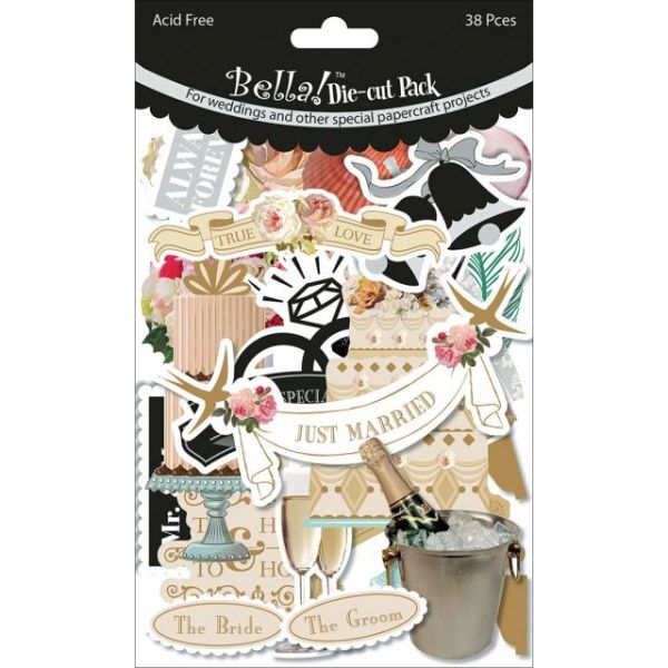 Bella! Wedding Cardstock Die-Cuts 38/Pkg