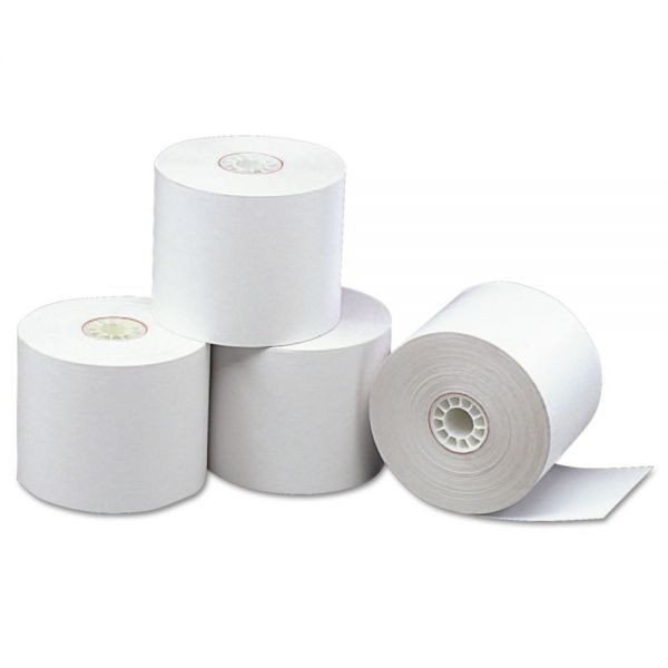 "PM Company Direct Thermal Printing Thermal Paper Rolls, 2 5/16"" x 338 ft, White, 12/Carton"