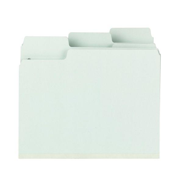 Smead SuperTab Pressboard Fastener Folders with SafeSHIELD Fasteners