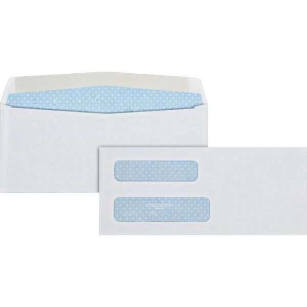 Quality Park 2-Window Security Tinted Check Envelope, #8 5/8, 3 5/8 x 8 5/8, White, 500/Box