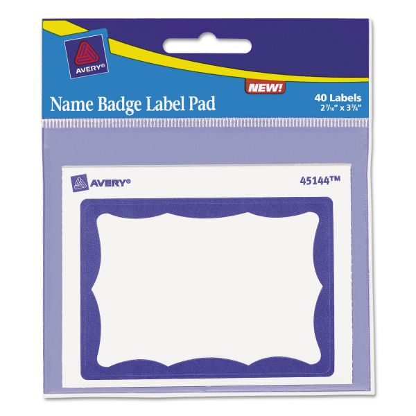 Avery Adhesive Name Tag Pad