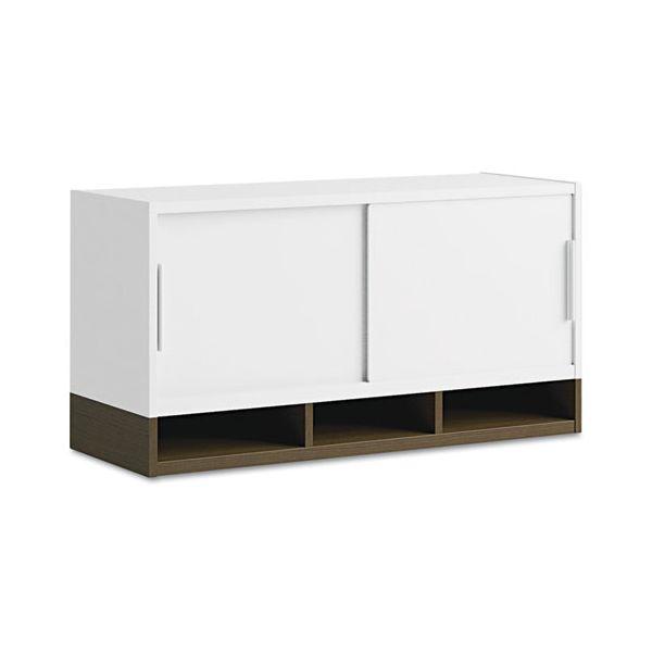 "Bush Furniture 36""W Overhead w/Doors Momentum: White/Mocha Cherry"