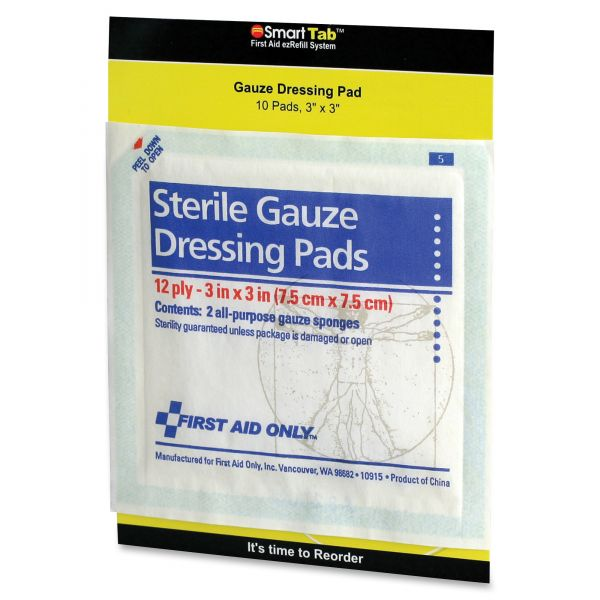 First Aid Only Sterile Gauze Dressing Pads
