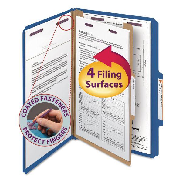 Smead SafeSHIELD 1-Divider Pressboard Classification Folders