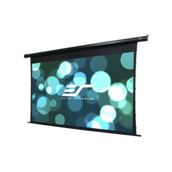 "Elite Screens Electric125HT Spectrum Tab-Tension Ceiling/Wall Mount Electric Projection Screen (125"" 16:9 Aspect Ratio) (MaxWhite)"