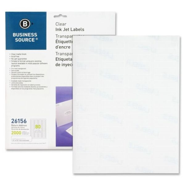Business Source Premium Clear Return Address Labels